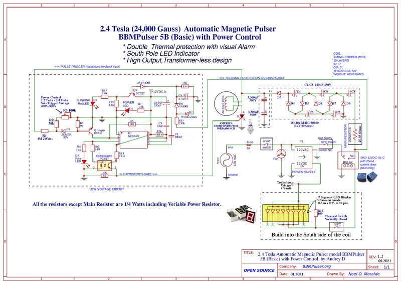 New 2.4 Tesla BBMPulser 5B (Basic) circuit now Available
